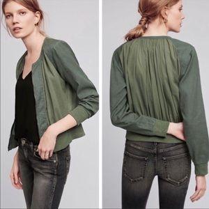 HEI HEI Anthropologie hilltop green zip up jacket